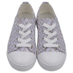 Brick2 White Marble & Sand (r) Kids  Low Top Canvas Sneakers