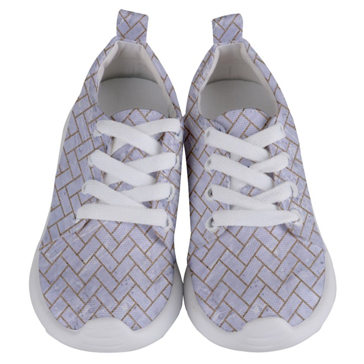 BRICK2 WHITE MARBLE & SAND (R) Kids  Lightweight Sports Shoes