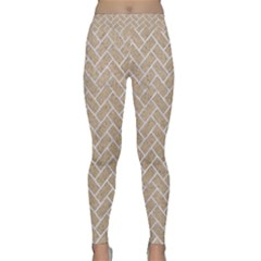 Brick2 White Marble & Sand Classic Yoga Leggings