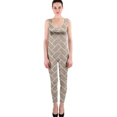 Brick2 White Marble & Sand One Piece Catsuit