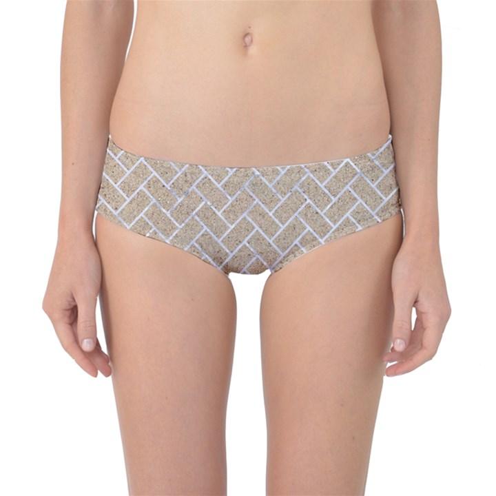BRICK2 WHITE MARBLE & SAND Classic Bikini Bottoms