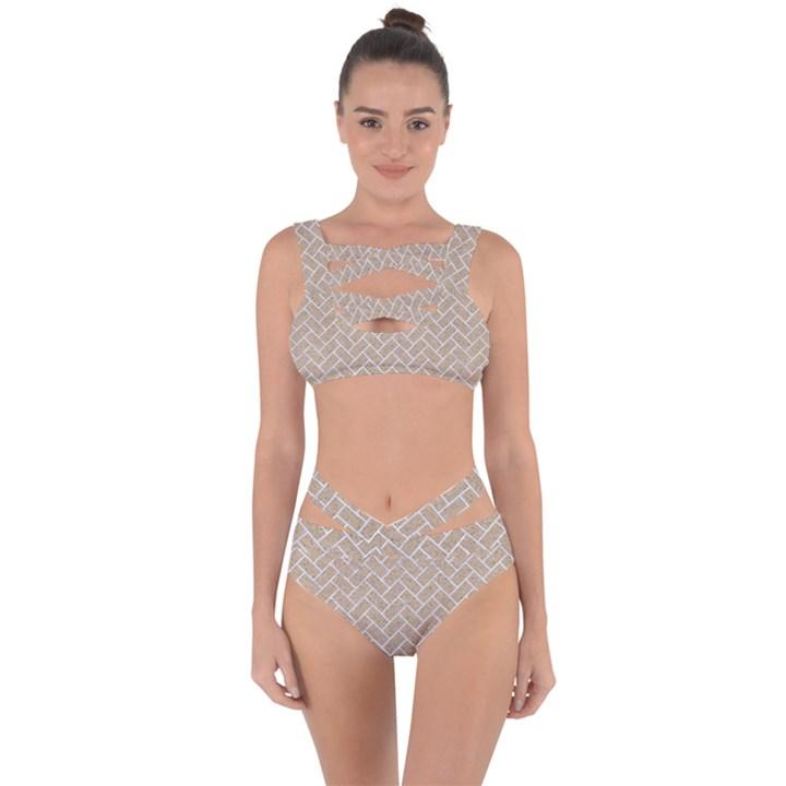BRICK2 WHITE MARBLE & SAND Bandaged Up Bikini Set