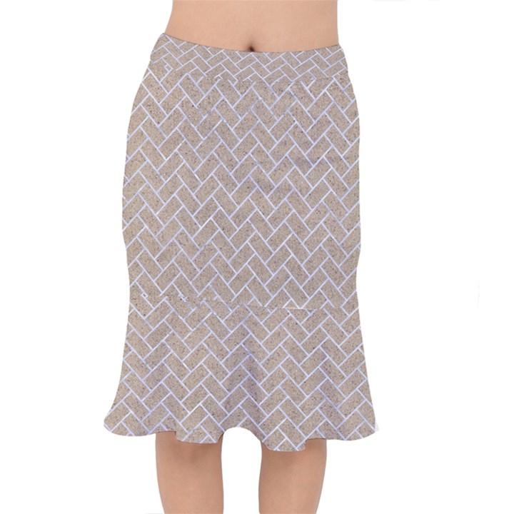 BRICK2 WHITE MARBLE & SAND Mermaid Skirt
