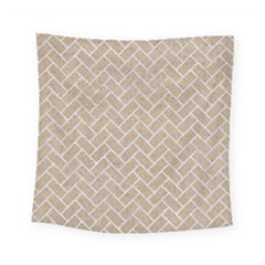 Brick2 White Marble & Sand Square Tapestry (small)