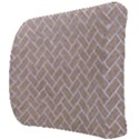 BRICK2 WHITE MARBLE & SAND Back Support Cushion View3