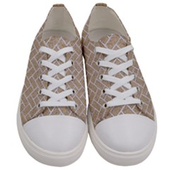 Brick2 White Marble & Sand Women s Low Top Canvas Sneakers
