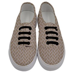 Brick2 White Marble & Sand Men s Classic Low Top Sneakers