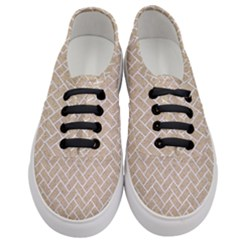 Brick2 White Marble & Sand Women s Classic Low Top Sneakers