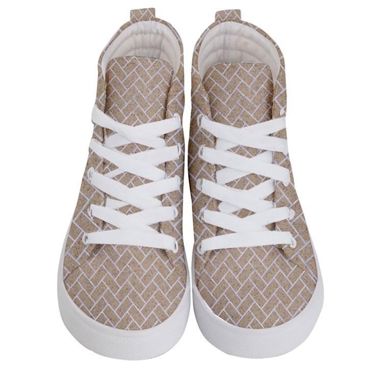 BRICK2 WHITE MARBLE & SAND Kid s Hi-Top Skate Sneakers