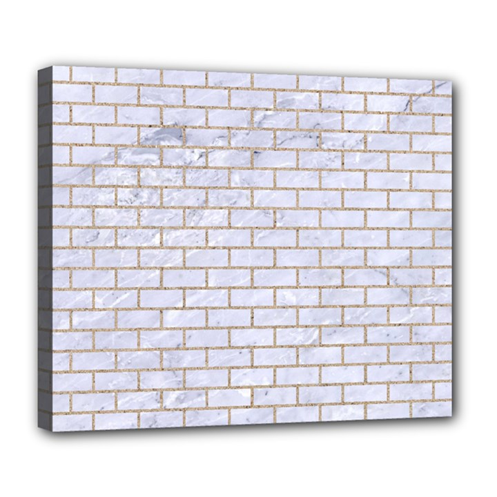 BRICK1 WHITE MARBLE & SAND (R) Deluxe Canvas 24  x 20