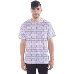 Brick1 White Marble & Sand (r) Men s Sports Mesh Tee