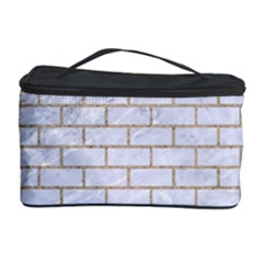 Brick1 White Marble & Sand (r) Cosmetic Storage Case