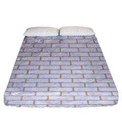 Brick1 White Marble & Sand (r) Fitted Sheet (king Size)