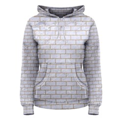 Brick1 White Marble & Sand (r) Women s Pullover Hoodie