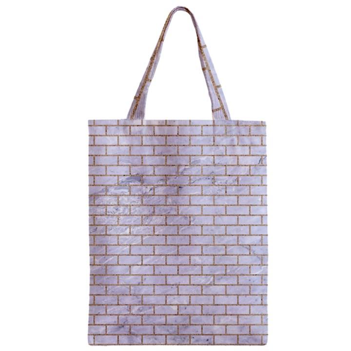 BRICK1 WHITE MARBLE & SAND (R) Zipper Classic Tote Bag