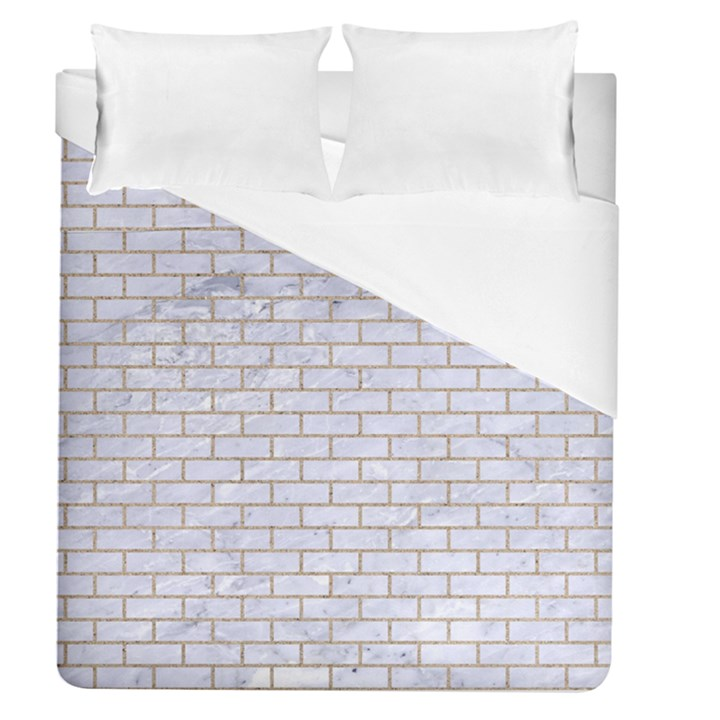 BRICK1 WHITE MARBLE & SAND (R) Duvet Cover (Queen Size)