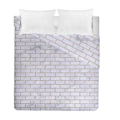 Brick1 White Marble & Sand (r) Duvet Cover Double Side (full/ Double Size)