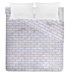 Brick1 White Marble & Sand (r) Duvet Cover Double Side (queen Size)