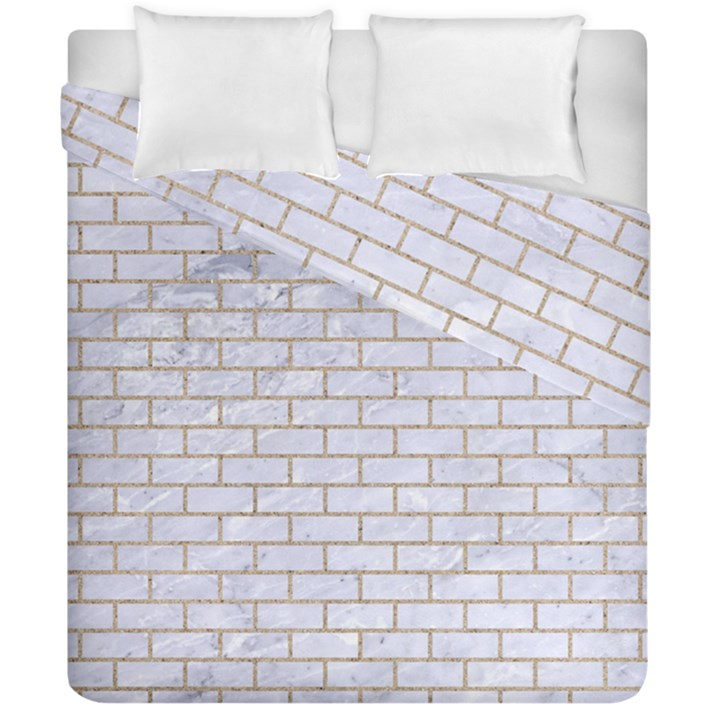 BRICK1 WHITE MARBLE & SAND (R) Duvet Cover Double Side (California King Size)
