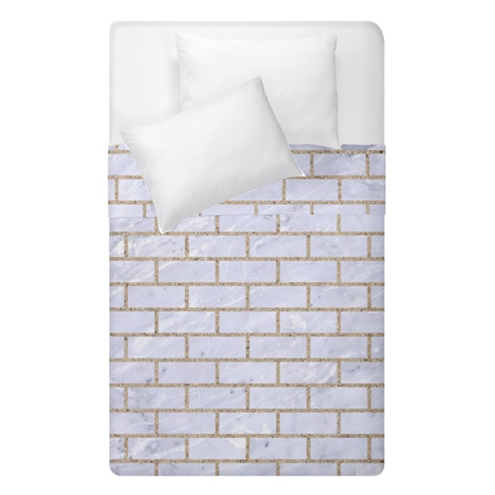 BRICK1 WHITE MARBLE & SAND (R) Duvet Cover Double Side (Single Size)