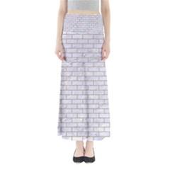Brick1 White Marble & Sand (r) Full Length Maxi Skirt