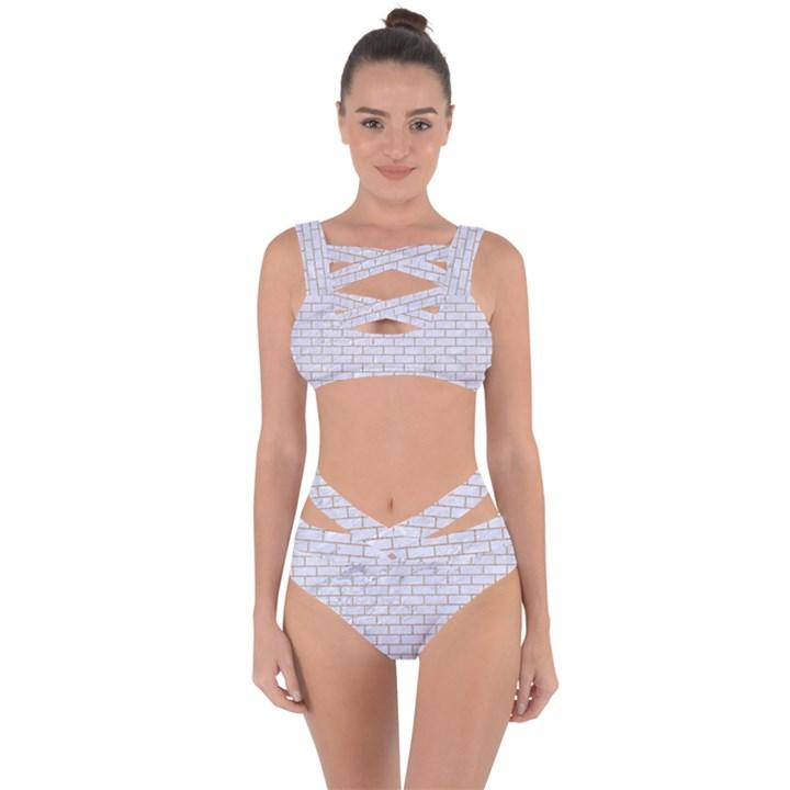 BRICK1 WHITE MARBLE & SAND (R) Bandaged Up Bikini Set