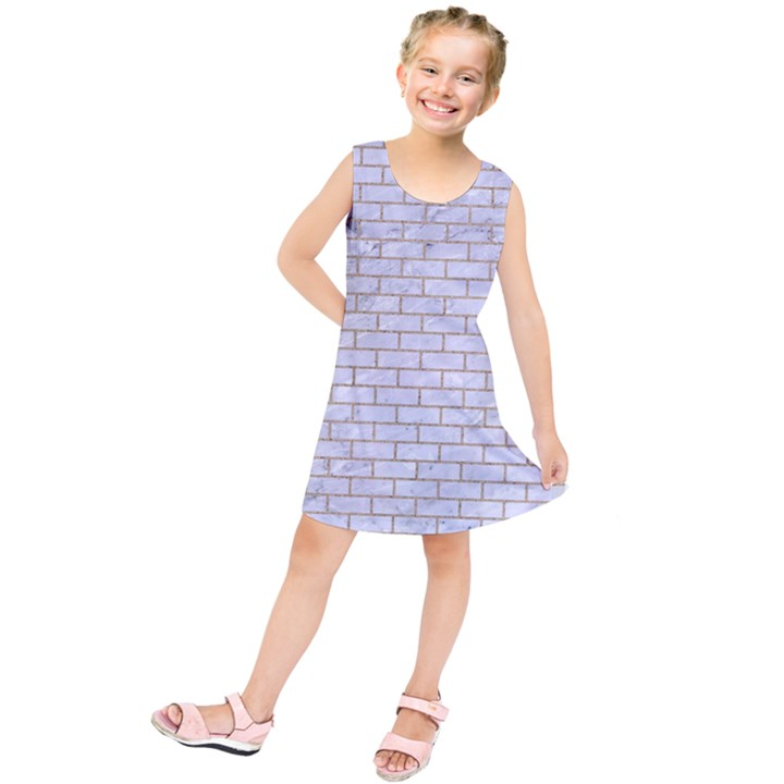 BRICK1 WHITE MARBLE & SAND (R) Kids  Tunic Dress