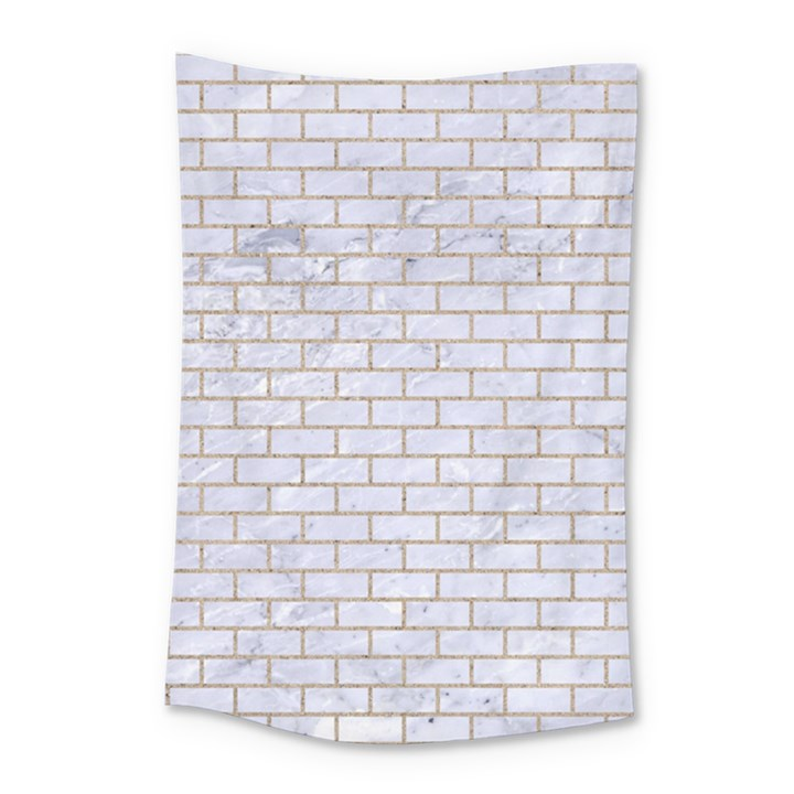 BRICK1 WHITE MARBLE & SAND (R) Small Tapestry