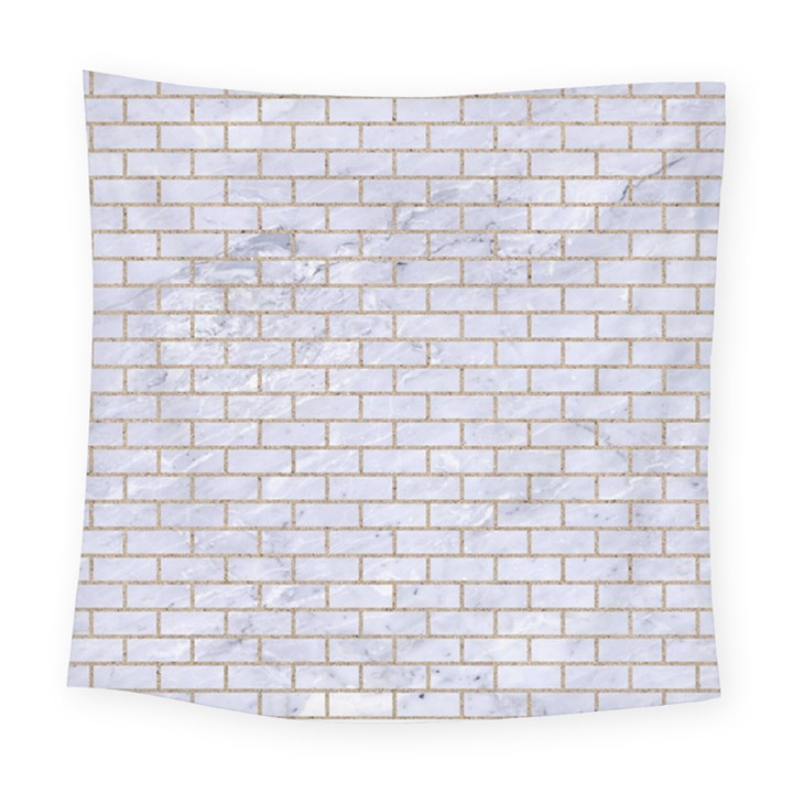 BRICK1 WHITE MARBLE & SAND (R) Square Tapestry (Large)