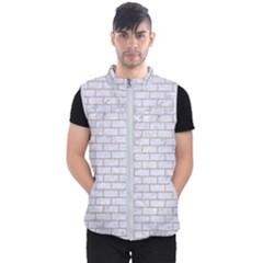 Brick1 White Marble & Sand (r) Men s Puffer Vest