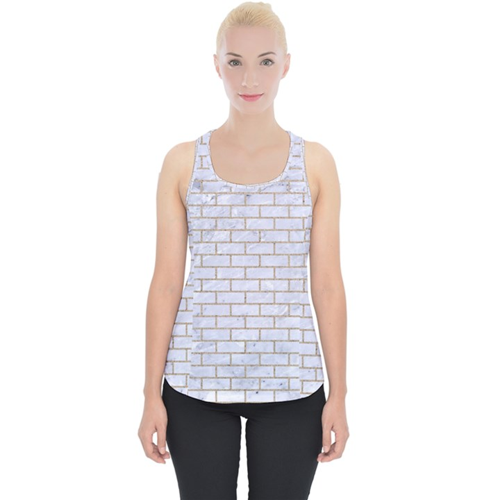 BRICK1 WHITE MARBLE & SAND (R) Piece Up Tank Top