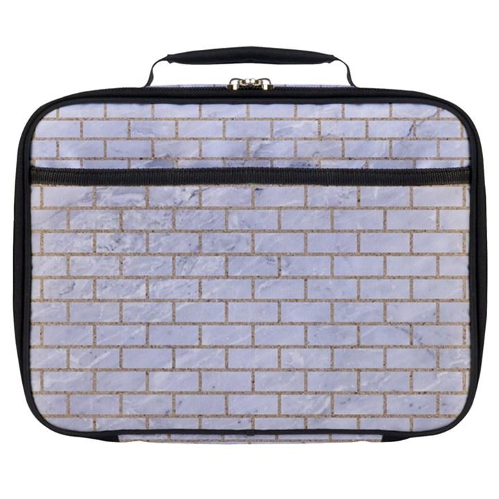 BRICK1 WHITE MARBLE & SAND (R) Full Print Lunch Bag
