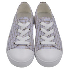Brick1 White Marble & Sand (r) Kids  Low Top Canvas Sneakers