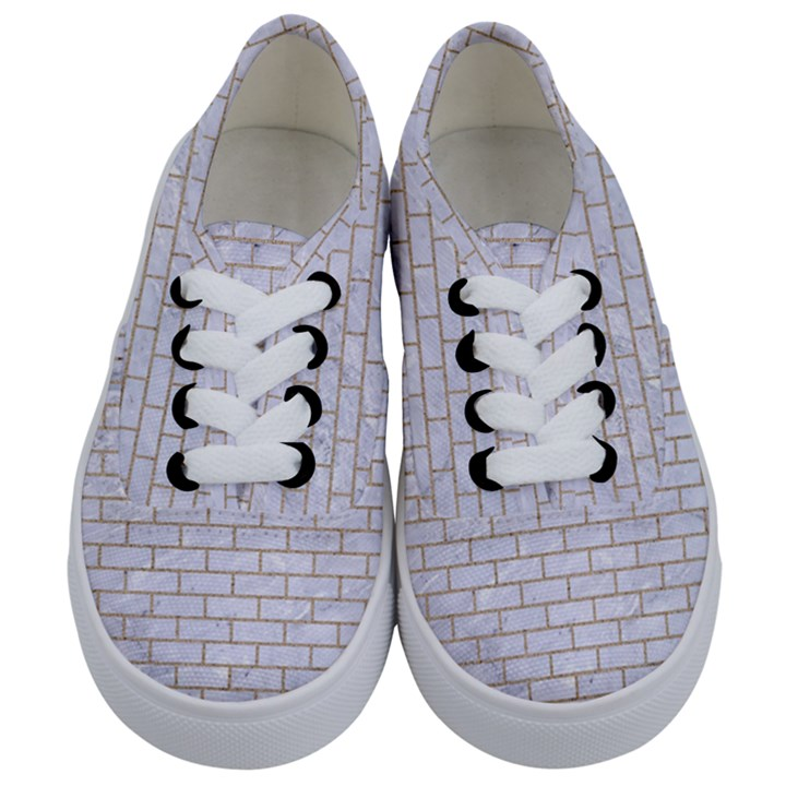 BRICK1 WHITE MARBLE & SAND (R) Kids  Classic Low Top Sneakers