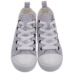 Brick1 White Marble & Sand (r) Kid s Mid Top Canvas Sneakers
