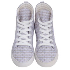 Brick1 White Marble & Sand (r) Men s Hi Top Skate Sneakers