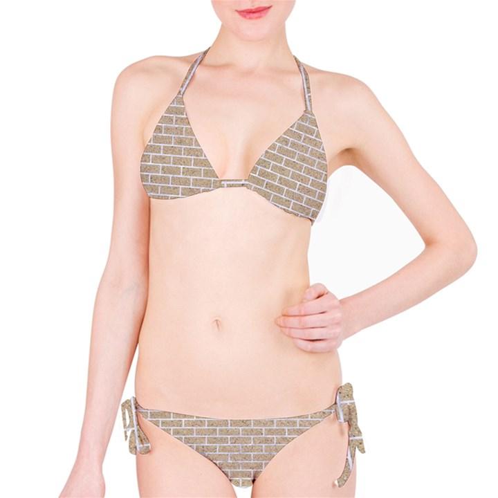 BRICK1 WHITE MARBLE & SAND Bikini Set