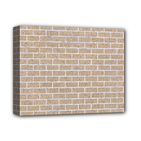 Brick1 White Marble & Sand Deluxe Canvas 14  X 11