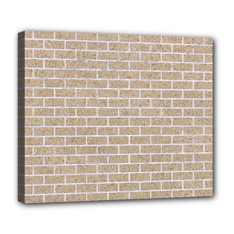 Brick1 White Marble & Sand Deluxe Canvas 24  X 20