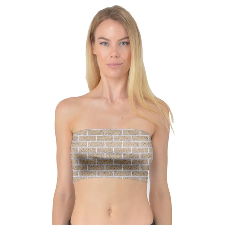 BRICK1 WHITE MARBLE & SAND Bandeau Top