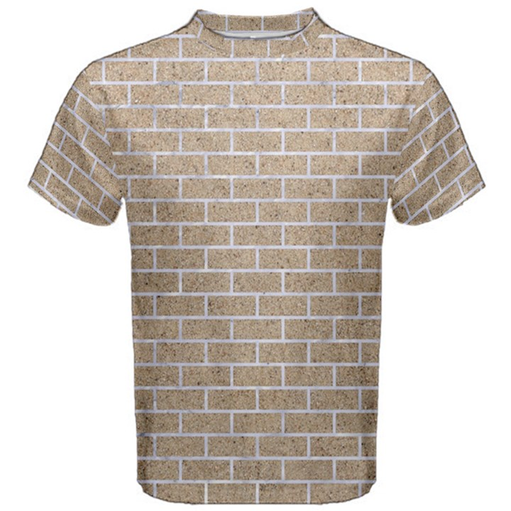 BRICK1 WHITE MARBLE & SAND Men s Cotton Tee