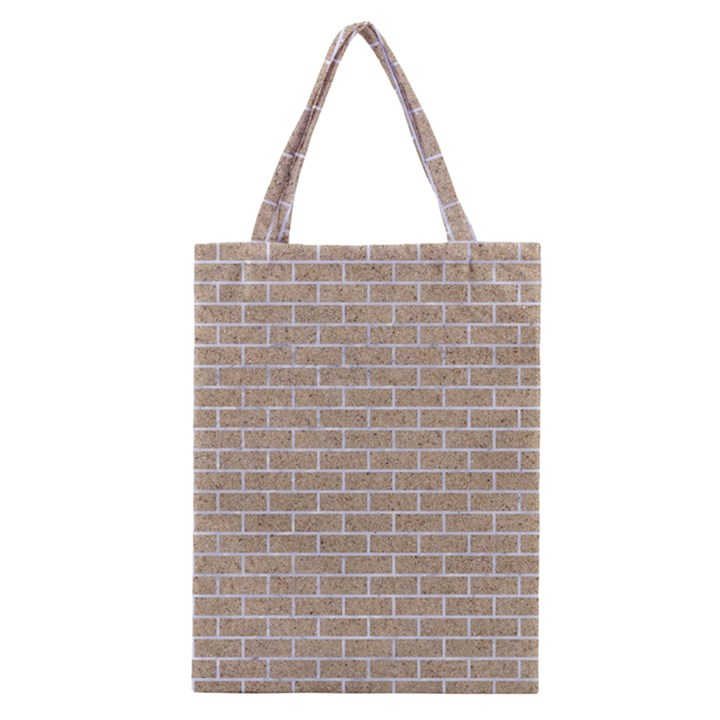 BRICK1 WHITE MARBLE & SAND Classic Tote Bag