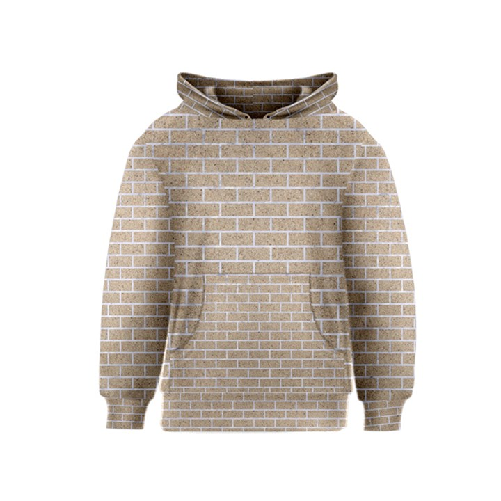 BRICK1 WHITE MARBLE & SAND Kids  Pullover Hoodie