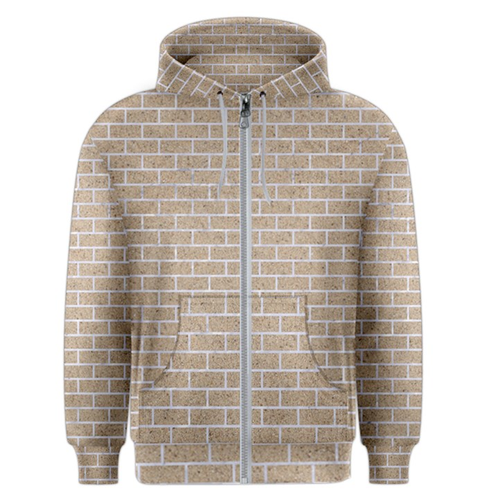 BRICK1 WHITE MARBLE & SAND Men s Zipper Hoodie
