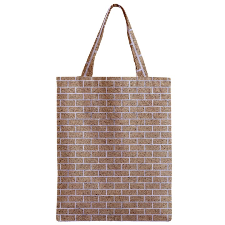 BRICK1 WHITE MARBLE & SAND Zipper Classic Tote Bag