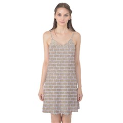 Brick1 White Marble & Sand Camis Nightgown