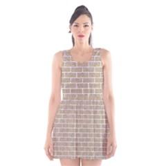 Brick1 White Marble & Sand Scoop Neck Skater Dress