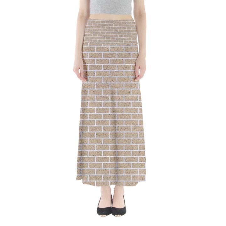 BRICK1 WHITE MARBLE & SAND Full Length Maxi Skirt