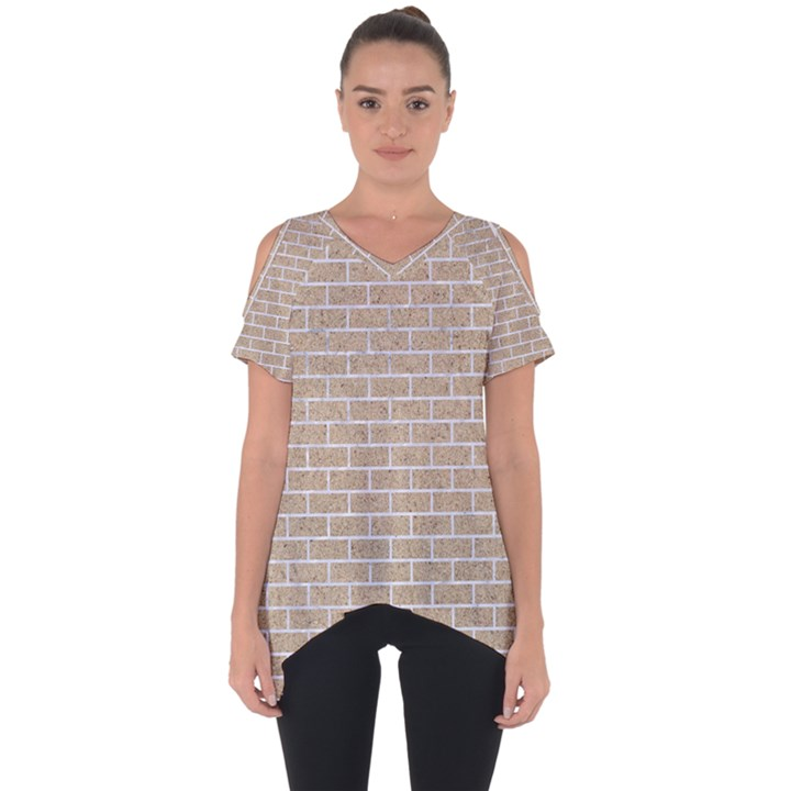 BRICK1 WHITE MARBLE & SAND Cut Out Side Drop Tee