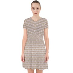 Brick1 White Marble & Sand Adorable In Chiffon Dress